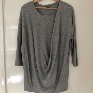 COS 3/4 grey marl jersey shirt. Size S